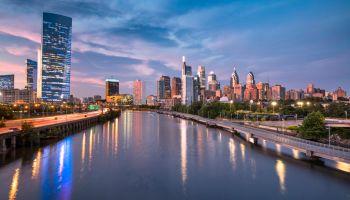 City skyline view of Philadelphia Pennsylvania